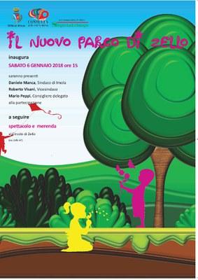 Il parco di Zello: manifesto inaugurazione