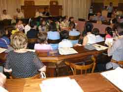 i componenti della Consulta tra i banchi del Consiglio comunale