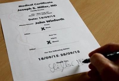 certificato di malattia